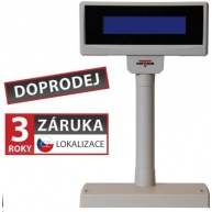 Virtuos LCD zákaznický displej Virtuos FL-2024LB 2x20, USB, 5V, béžový