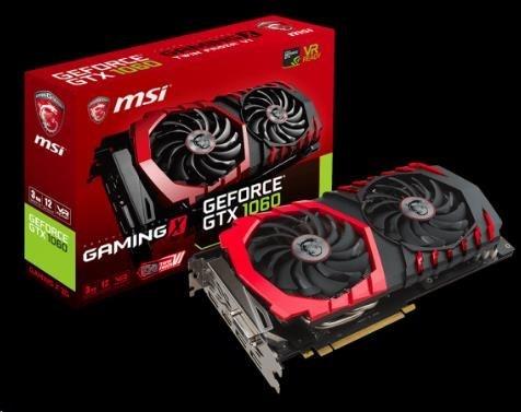MSI VGA NVIDIA GTX 1060 GAMING X 3G, GTX1060, GDDR5 3GB