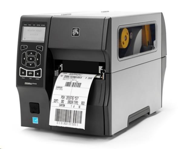 """ZebraTT průmyslová tiskárna ZT410, 4"""",600 dpi,RS232,USB,10/100 LAN,Bluetooth 2.1/MFi,USB Host,Peel w/ Full Rewind,EZPL"""