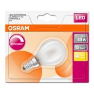 OSRAM LED SUPERSTAR CL P GL Fros. 5W 827 E14 470lm 2700K (CRI 80) 15000h A+ DIM (Blistr 1ks)