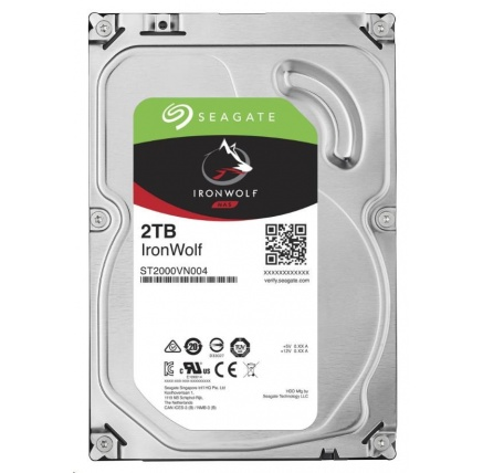 SEAGATE HDD IRONWOLF (NAS) 2TB SATAIII/600, 5900rpm, 64MB cache