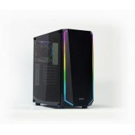 ZALMAN K1 skříň miditover ATX MID, temperované sklo & spectrum LED, bez zdroje, USB3.0, černá