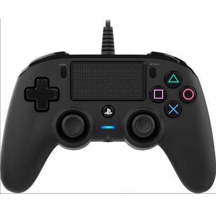 Nacon Wired Compact Controller - ovladač pro PlayStation 4 - černý