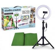 Studio Creator Video Sada - stativ s LED světlem pro natáčení videí + klíčovací plátno