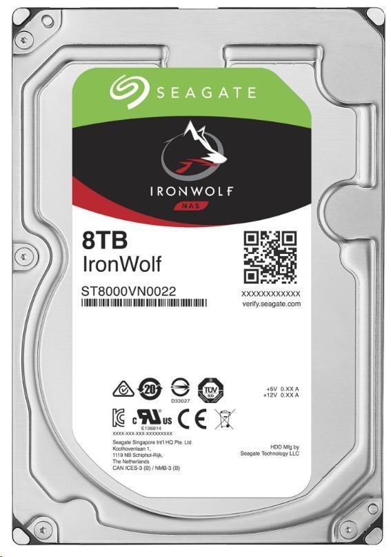 SEAGATE HDD IRONWOLF (NAS) 8TB SATAIII/600, 7200rpm, 256MB cache