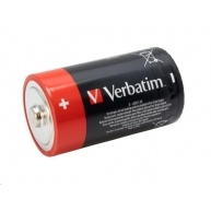 VERBATIM Alkalické baterie D,  2 PACK / LR20