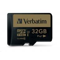 VERBATIM MicroSDHC karta 32GB PRO+ Class 10, UHS 1 (R:90/W:80 MB/s)