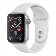 COTEetCI silikonový sportovní náramek pro Apple watch 42 / 44 mm bílý