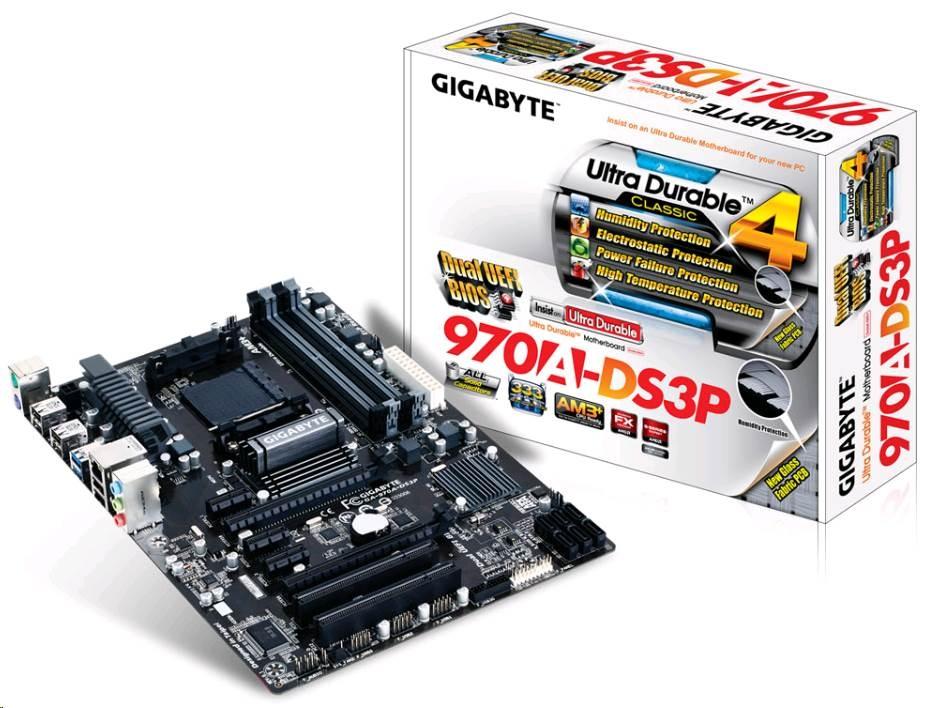 GIGABYTE MB Sc AM3+ 970A-DS3P, AMD 970, 4xDDR3