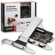 AXAGO - PCEA-SP PCI-Express adapter 2x seriový port + 1x par.
