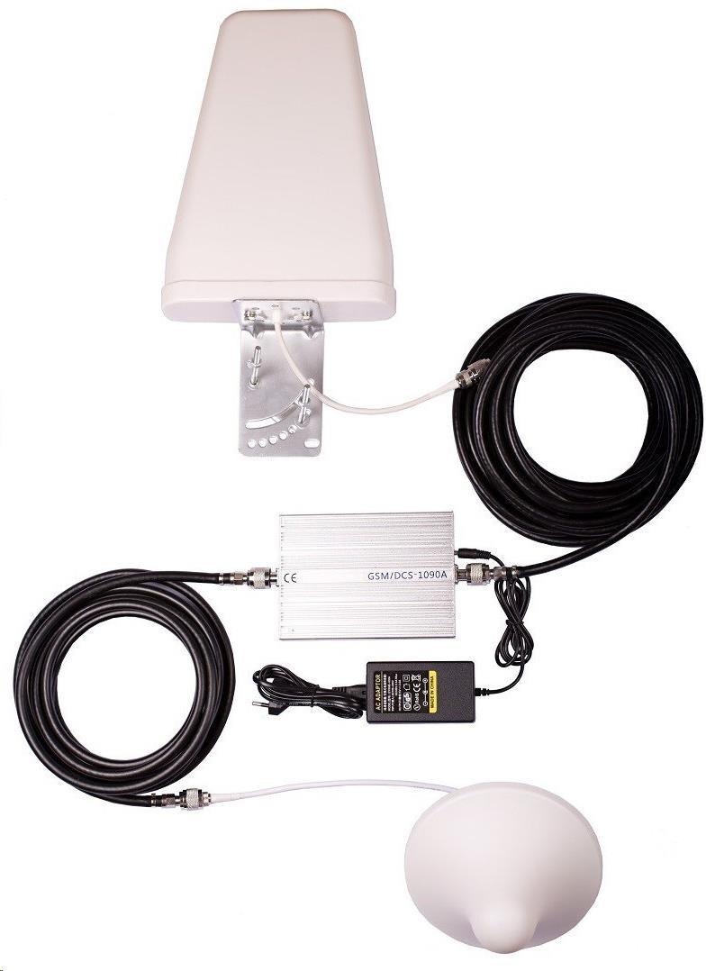 TESLA GSM-LTE,  zesilovač/opakovač GSM signálu (900, 800 MHz), sada