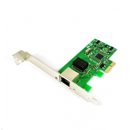 iTec  PCI-E Gigabit Ethernet Card 1000/100/10MBps with Low Profile Backplate
