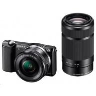 SONY Alfa5000 fotoaparát, 20.4MPix + 16-50mm + 55-210mm - černý