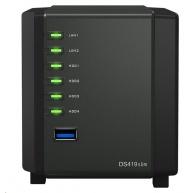 Synology DS419slim DiskStation (2C/Armada385/1,33GHz/512MBRAM/4xSATA/2xUSB3.0/2xGbE)