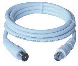 PREMIUMCORD TV kabel anténní propojovací 2m (koaxiální, M/F, 75 Ohm)
