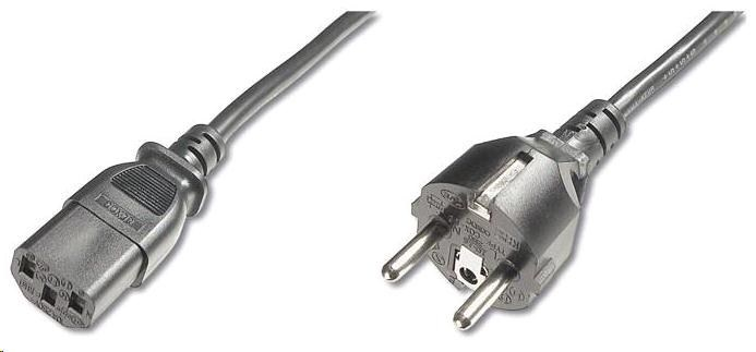 PREMIUMCORD Kabel napájecí 230V/10A, rovná vidlice,  2m