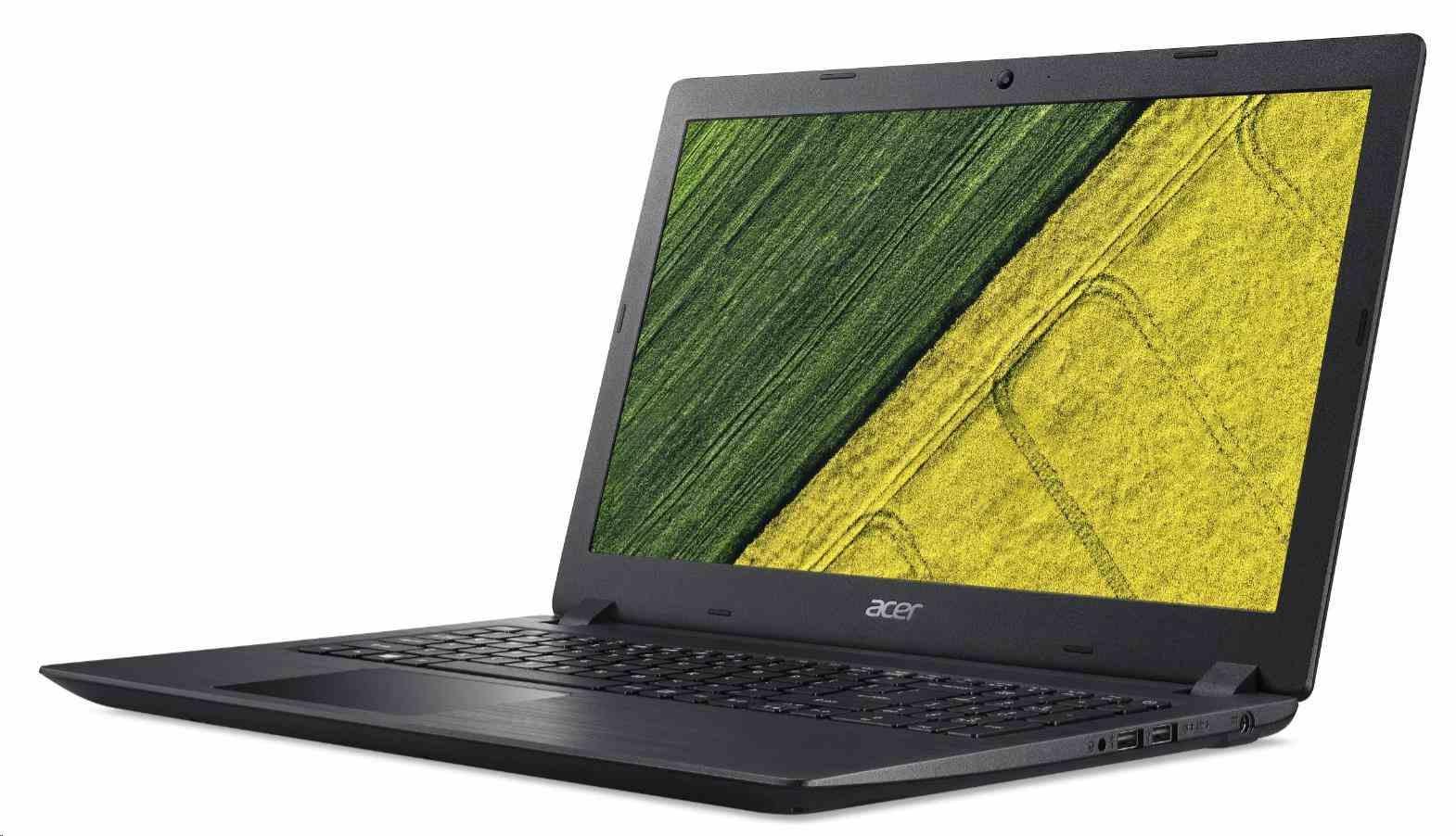 "ACER NTB Aspire 3 (A315-32-P5UJ) - Pentium N5000,15.6""FHD,4GB,256SSD,IntelHD,noDVD,čt.pk,2c,W10H"