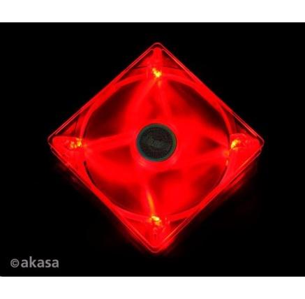 AKASA ventilátor AK-FN075, 140 x 25mm, červený LED, kluzné ložisko