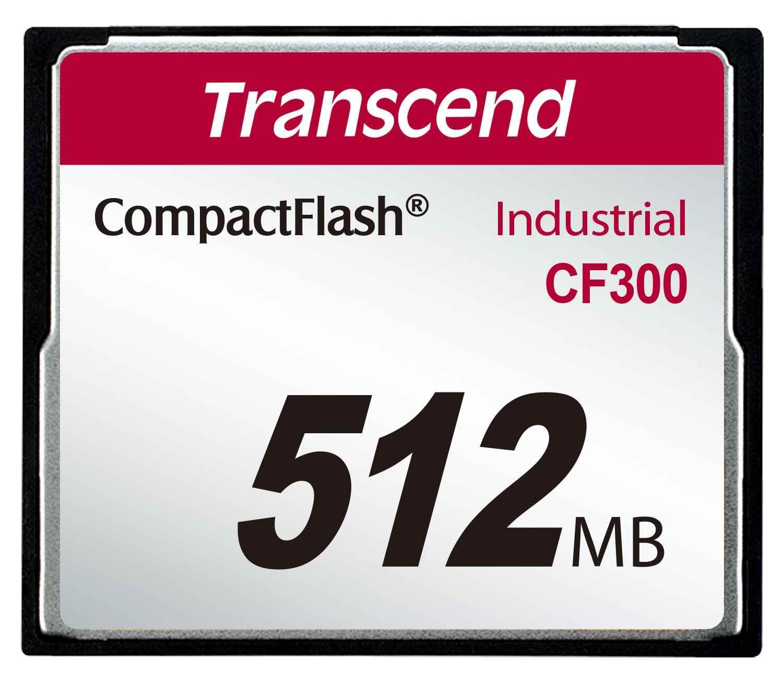 TRANSCEND Industrial Compact Flash Card CF300 512MB, SLC (300X, UDMA5, TYPE I)