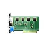 FUJITSU VGA extension card - pro PC P556 P557 - analog video vystup,