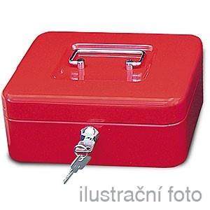Přenosná pokladna WEDO 250, červená