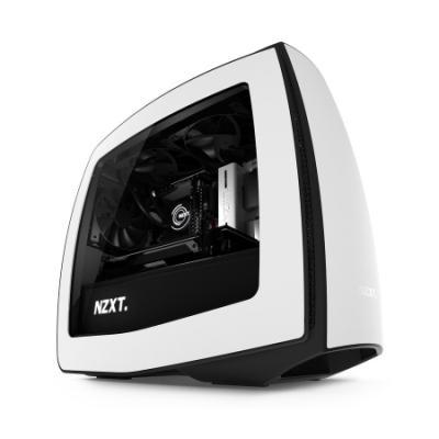 NZXT skříň MANTA / mini-ITX / bez zdroje / průhledná bočnice / bílo-černá