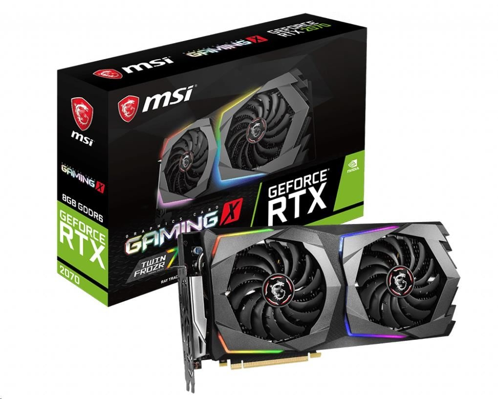 MSI VGA NVIDIA GeForce RTX 2070 GAMING X 8G, 8GB GDDR6