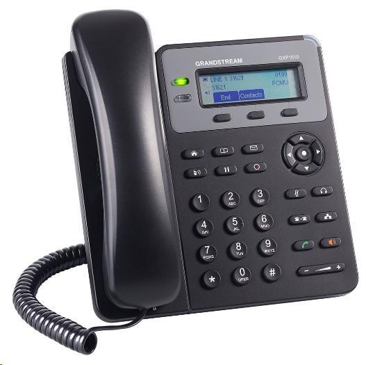 Grandstream GXP1610 [VoIP telefon - 1x SIP účet, HD audio, 3 program.tlačítka, switch 2xLAN 10/100Mbps]
