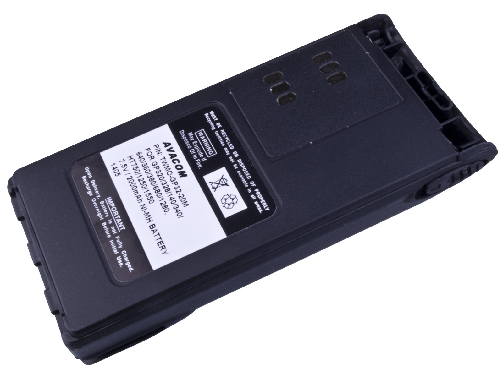 AVACOM baterie pro radiostanice Motorola GP320/340/360, HT750/1250..- WARIS Ni-MH 7,5V 2000mAh
