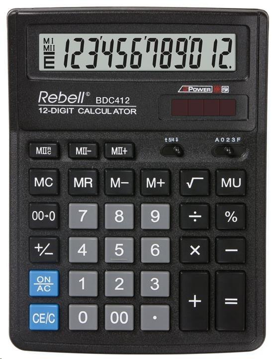 REBELL kalkulačka - BDC412 - černá