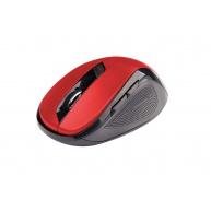 C-TECH myš WLM-02, černo-červená, bezdrátová, 1600DPI, 6 tlačítek, USB nano receiver