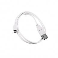 Kabel C-TECH USB 2.0 AM/Micro, 2m, bílý