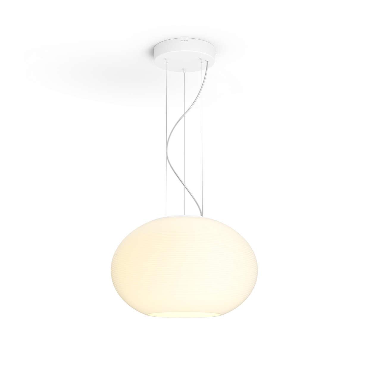 PHILIPS Flourish Závěsné svítidlo, Hue White and color ambiance, 230V, 1x32W integr.LED, Bílá