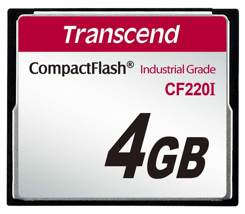TRANSCEND Industrial Compact Flash Card CF220I 4GB, SLC (UDMA5)