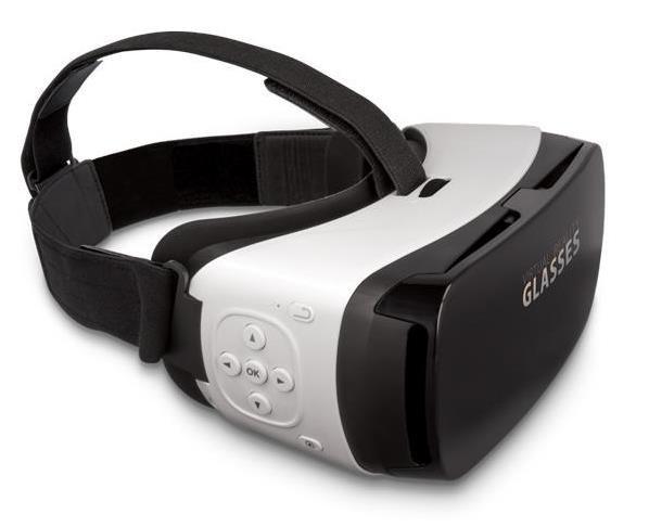 Forever 3D brýle VRB-300 s ovladáním na brýlích, bílá