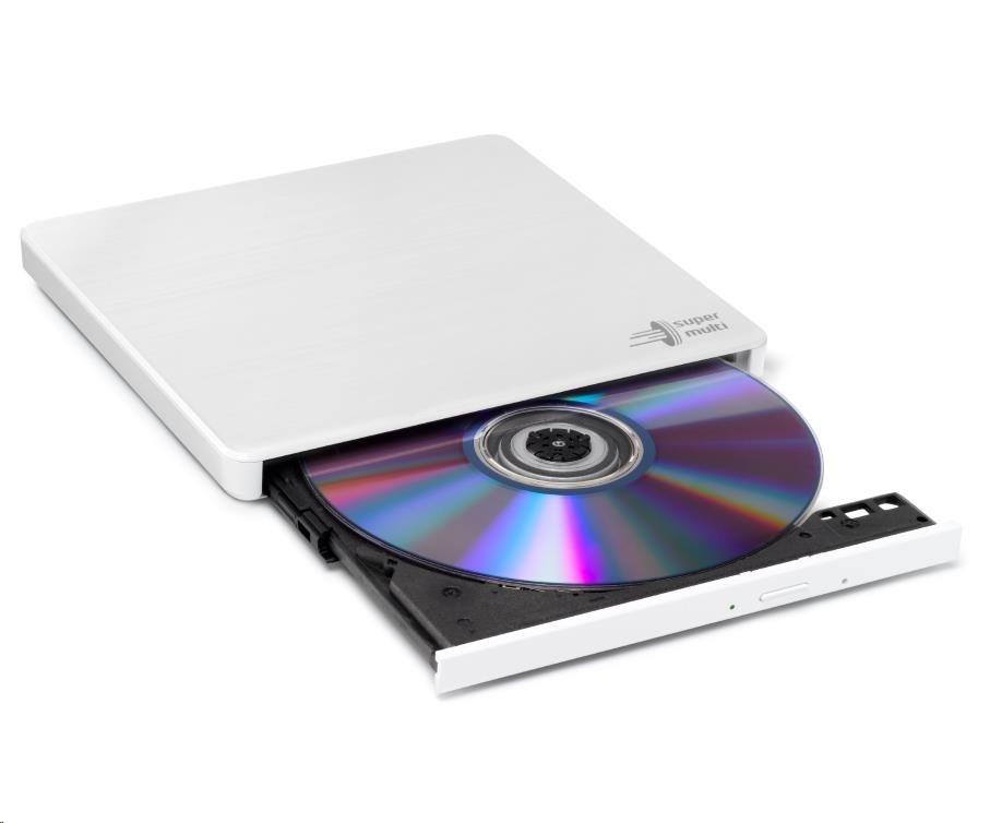 HITACHI LG - externí mechanika DVD-W/CD-RW/DVD±R/±RW/RAM GP60NW60, Slim, White, box+SW