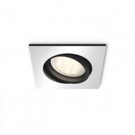 PHILIPS MILLISKIN Zapuštěné bodové svítidlo, čtvercové, Hue White ambiance, 230V, 1x5.5W GU10, Aluminium, rozšíření