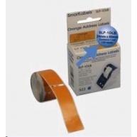 Seiko adresní štítky - oranžové, 28x89mm 130ks/role