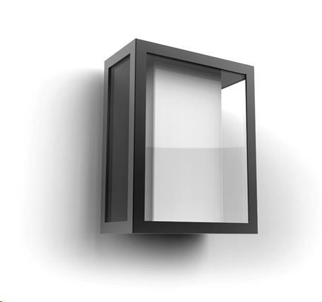 PHILIPS Impress Venkovní nástěnné svítidlo, White and Color Ambience, široké, integr.LED, Antracit