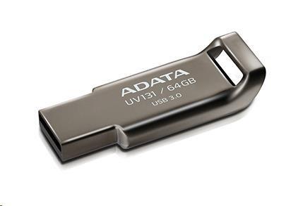 ADATA Flash Disk 16GB USB 3.0 DashDrive UV131, Chromium Grey, kovový