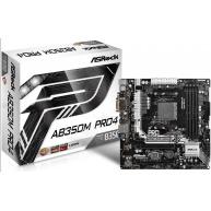 ASRock MB Sc AM4 AB350M Pro4 R2.0, AMD AB350, 4xDDR4, VGA, mATX