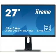 Iiyama monitor ProLite XB2783HSU-B3, 68,6 cm (27''), Full HD, VGA, DVI, HDMI, USB, Pivot, black