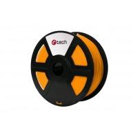 C-TECH Tisková struna (filament) PLA, 1,75mm, 1kg, oranžová