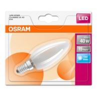 OSRAM LED STAR CL B GL Fros. 4W 840 E14 470lm 4000K (CRI 80) 15000h A++ (Blistr 1ks)