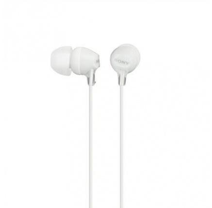SONY stereo sluchátka MDR-EX15LP, bílá