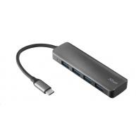 TRUST Rozbočovač Halyx Aluminium USB-C to 4-Port USB-A 3.2 Hub