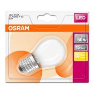 OSRAM LED STAR CL P GL Fros. 6W 827 E27 806lm 2700K (CRI 80) 15000h A++ (Blistr 1ks)