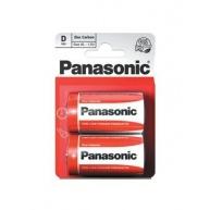 PANASONIC Zinkouhlíkové baterie Red Zinc R20RZ/2BP EU D 1,5V (Blistr 2ks)