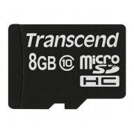 TRANSCEND MicroSDHC karta 8GB Class 10 8GB, bez adaptéru