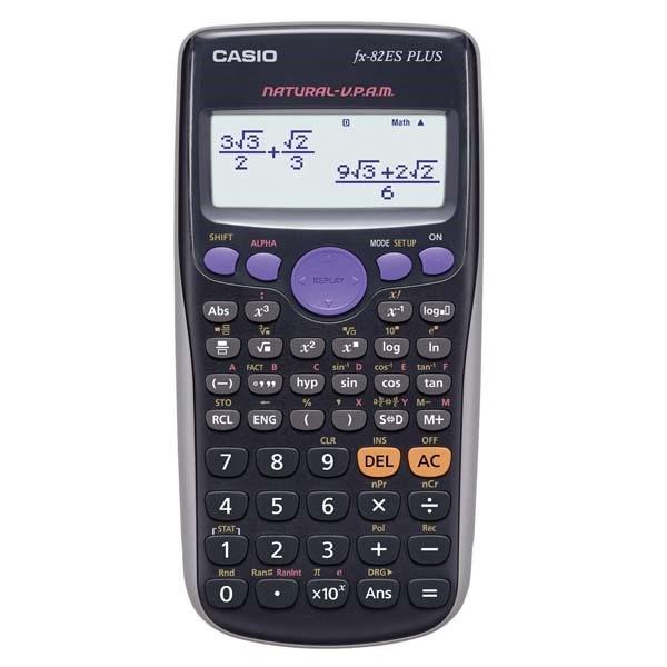 CASIO kalkulačka FX 82ES PLUS, černá, školní, desetimístná